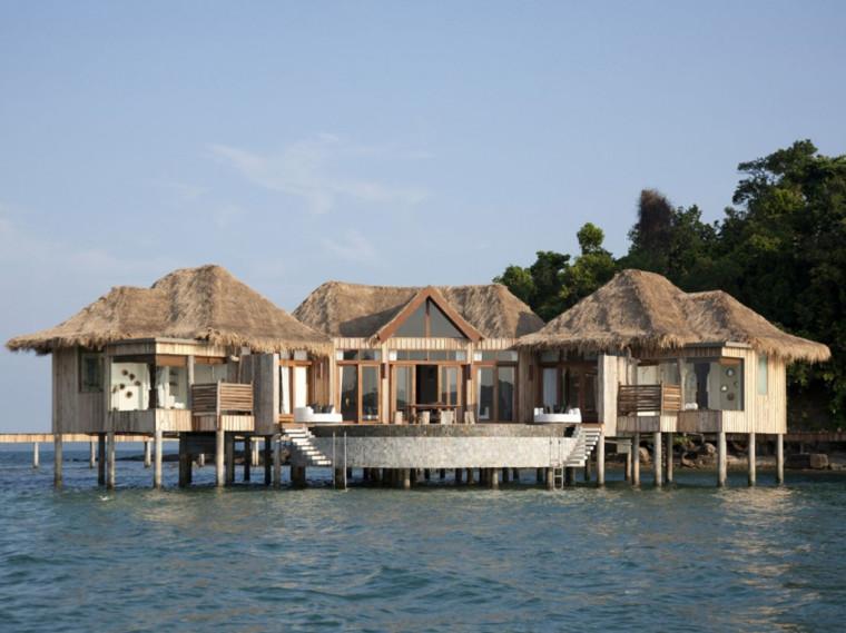 柬埔寨岛的度假村