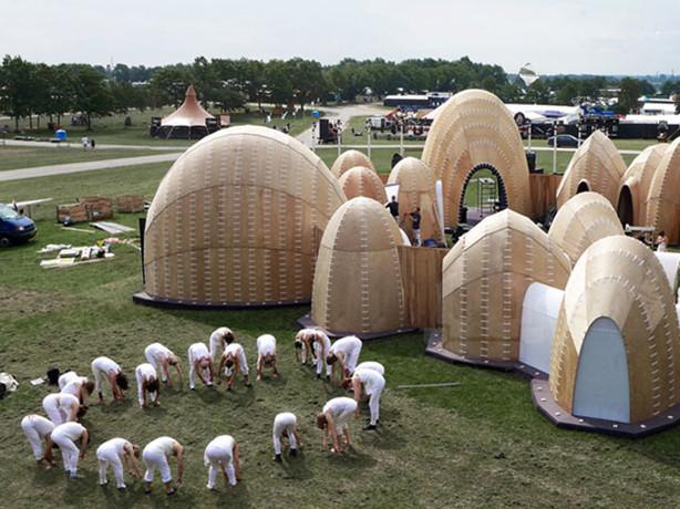 丹麦音乐节临时建筑the velvet state