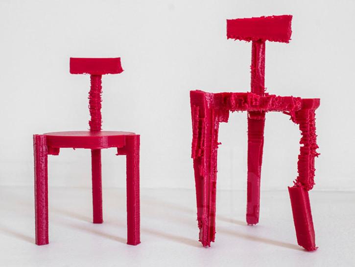 由噪声转化而来的3D打印座椅