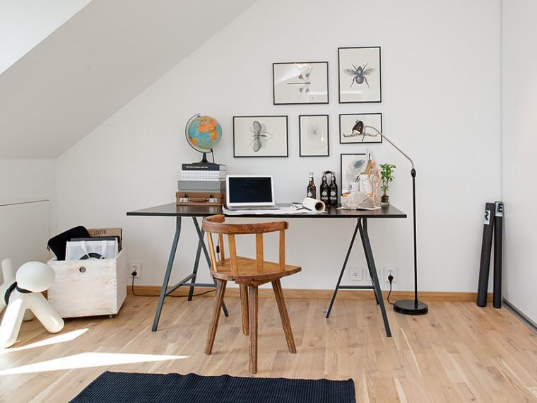 瑞典优雅而简约小阁楼式公寓