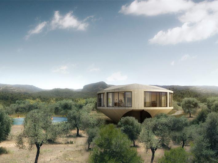 西班牙圆形住宅