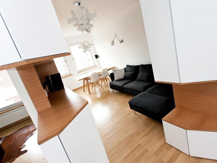 波兰中性风格的有趣公寓