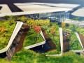 多层绿色屋顶Ostim生态园