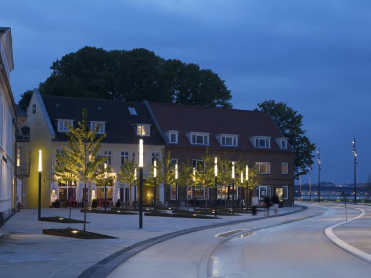 丹麦奥尔堡滨水区景观
