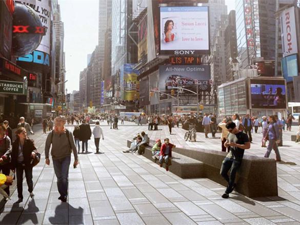 纽约时代广场的规划景观