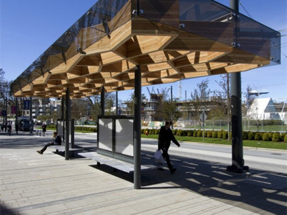 UBC水上活动中心资料下载-UBC大学公交亭景观