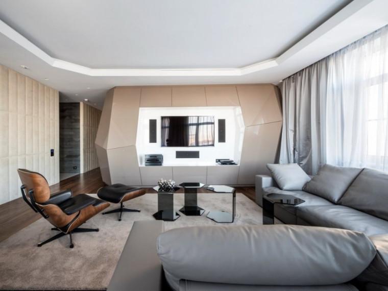 US现代建筑资料下载-莫斯科现代公寓