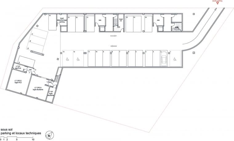 巴黎乌尔克饶勒斯学生及社会住房-巴黎乌尔克饶勒斯学生及社会住房第42张图片
