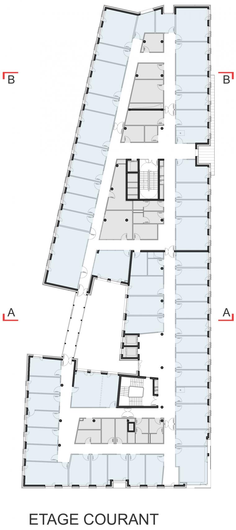 法国 Archipel Habitat总部办公楼-法国 Archipel Habitat总部办公楼第27张图片
