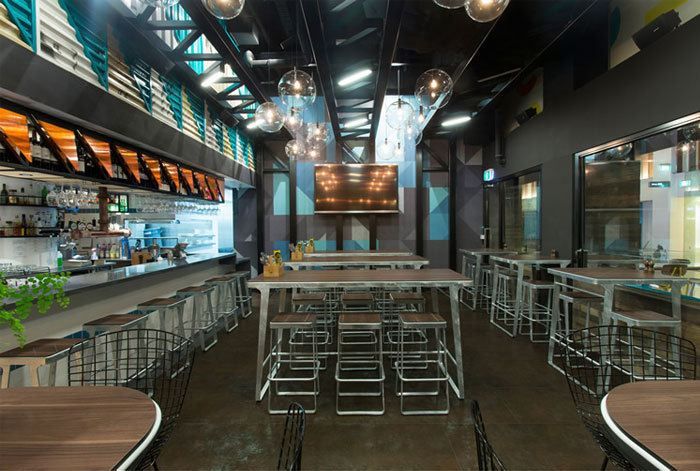 墨尔本的Bluetrain咖啡室内部局部-墨尔本的Bluetrain咖啡屋第3张图片
