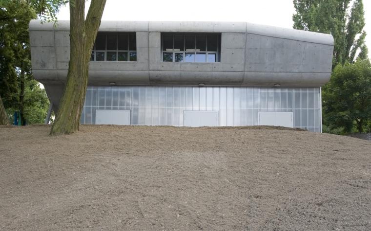 柏林水上活动中心外部局部图-柏林水上活动中心第3张图片
