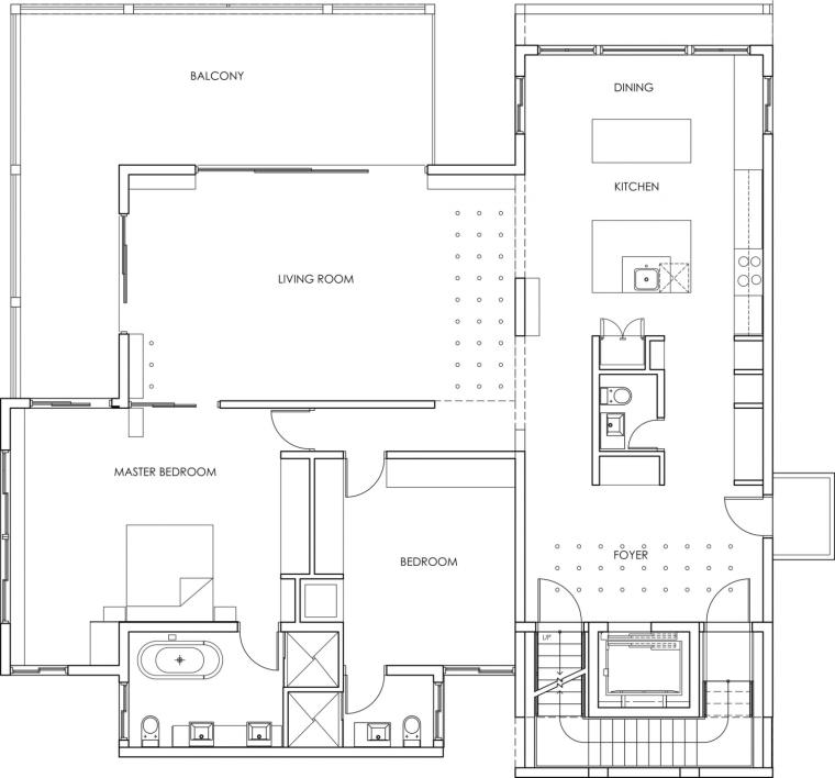 美国塔维涅大道住宅二层平面图-美国塔维涅大道住宅第18张图片