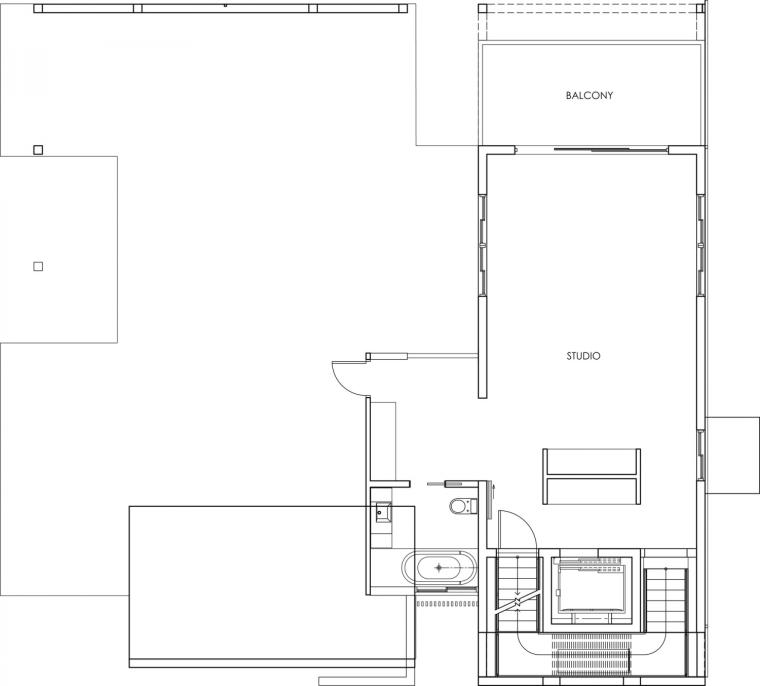 美国塔维涅大道住宅三层平面图-美国塔维涅大道住宅第19张图片