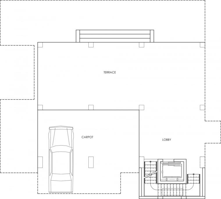 美国塔维涅大道住宅二层平面图-美国塔维涅大道住宅第20张图片