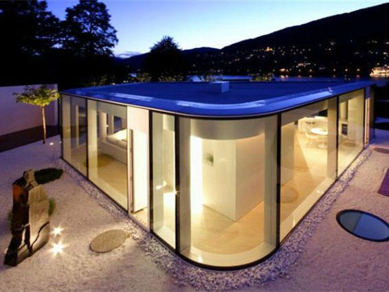 瑞士卢加诺湖现代别墅