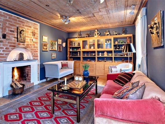 欧式乡村风格装修资料下载-瑞典复古乡村风格公寓