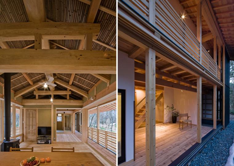 日本daisen别墅颞内部和外部局部-日本daisen别墅第4张图片