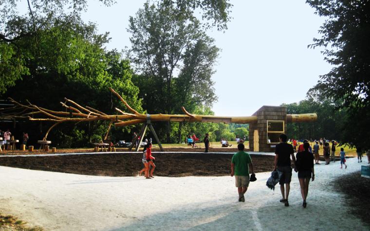 纳波利斯的筷子树景观外部局部图-纳波利斯的筷子树景观第4张图片