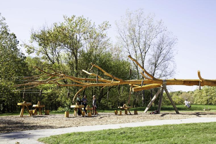 纳波利斯的筷子树景观外部局部图-纳波利斯的筷子树景观第5张图片