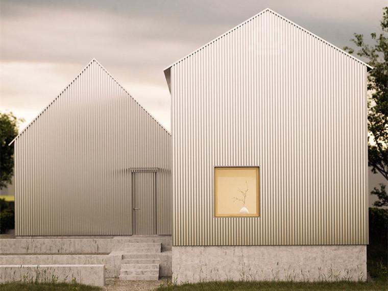 瑞典波纹铝住宅