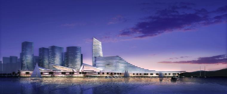 厦门东南国际航运中心夜景外观图-厦门东南国际航运中心第5张图片