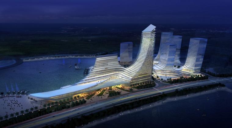 厦门东南国际航运中心夜景外观图-厦门东南国际航运中心第6张图片