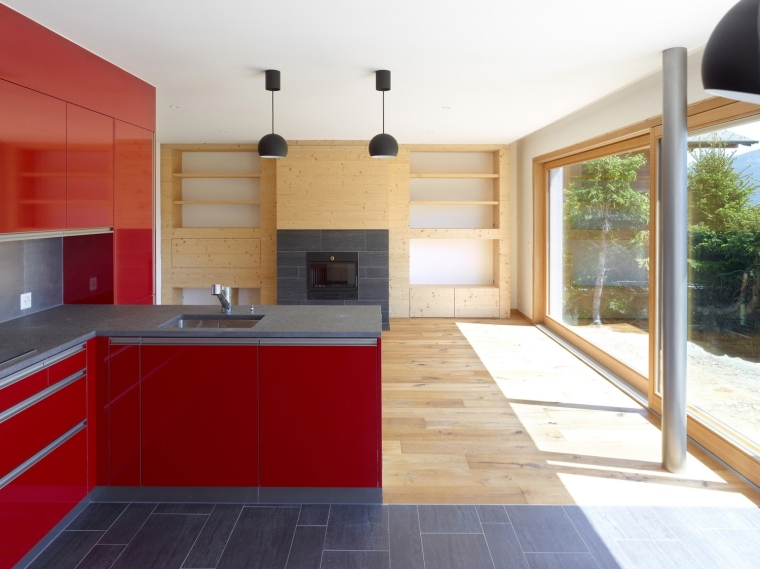 瑞士DEY住宅内部厨房局部图-瑞士DEY住宅第6张图片