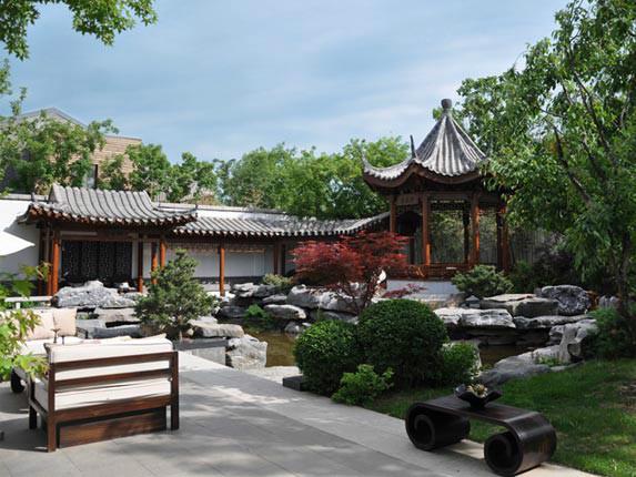 北京泰禾运河岸上的院子景观