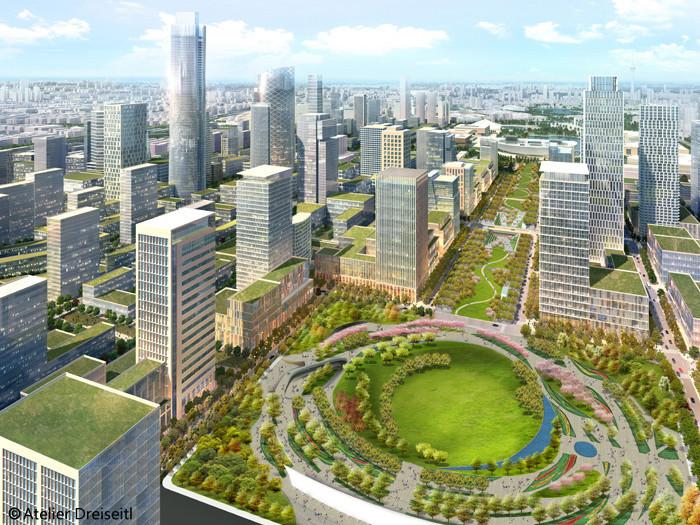 河西中央商务区整体景观规划
