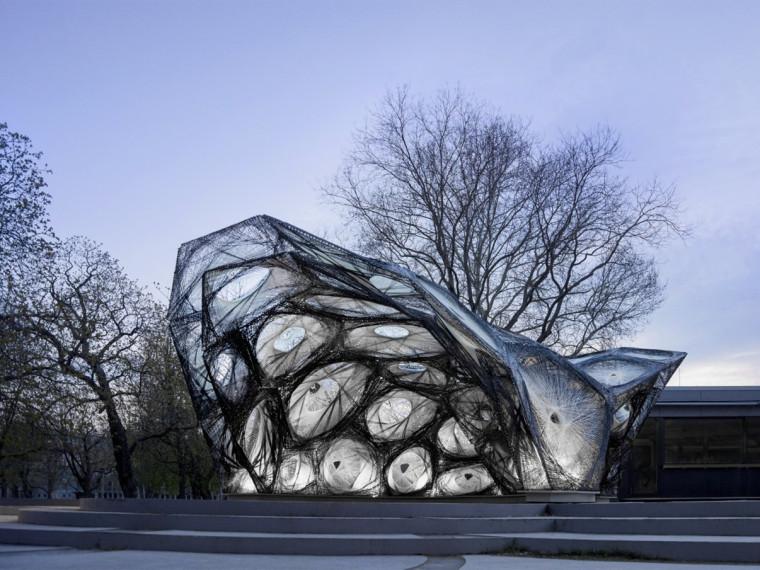 斯图尔特大学的昆虫结构亭子