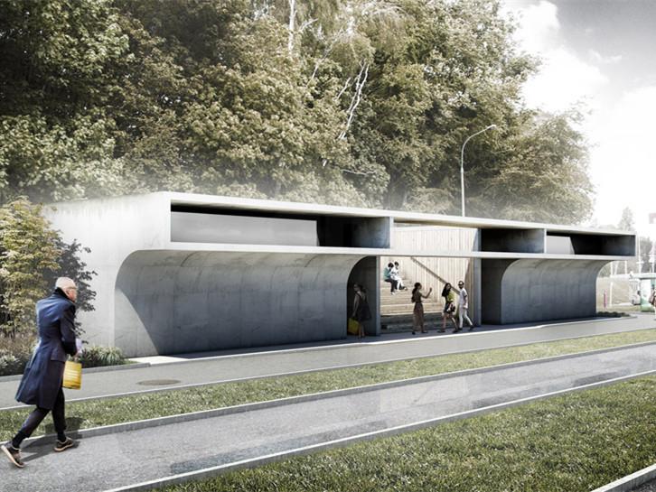 波兰巨型的潜望镜卫生间建筑