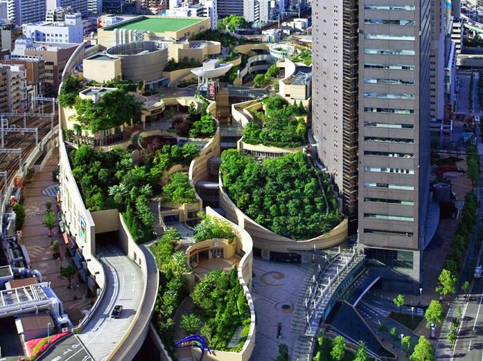 日本的八层屋顶花园