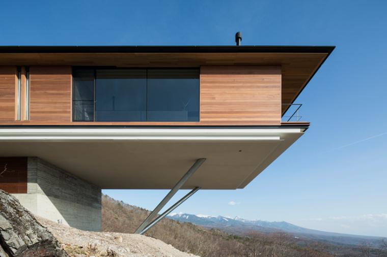 日本悬浮于空的住宅外部局部实景-日本悬浮于空的住宅第7张图片