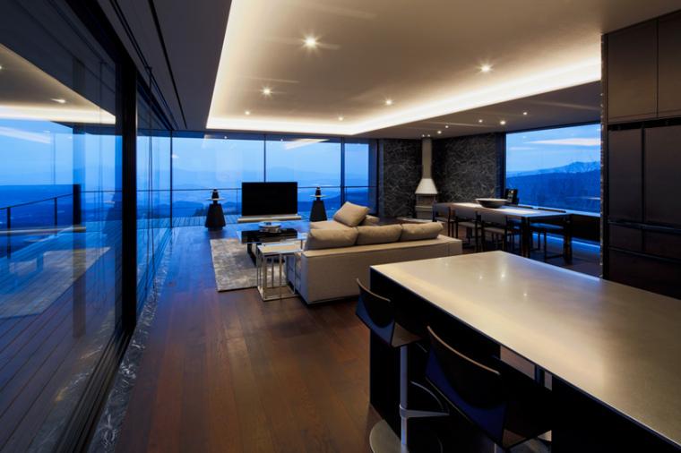 日本悬浮于空的住宅内部房间实景-日本悬浮于空的住宅第17张图片