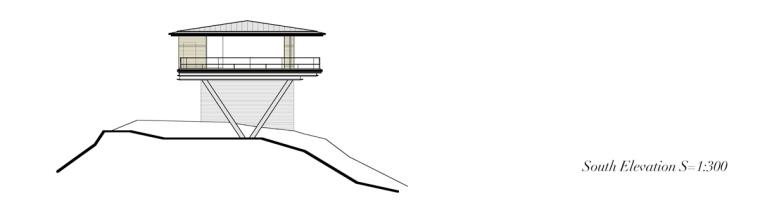 日本悬浮于空的住宅南立面图-日本悬浮于空的住宅第21张图片