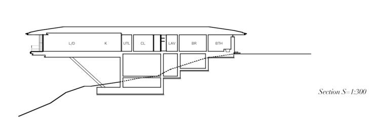 日本悬浮于空的住宅剖面图-日本悬浮于空的住宅第22张图片
