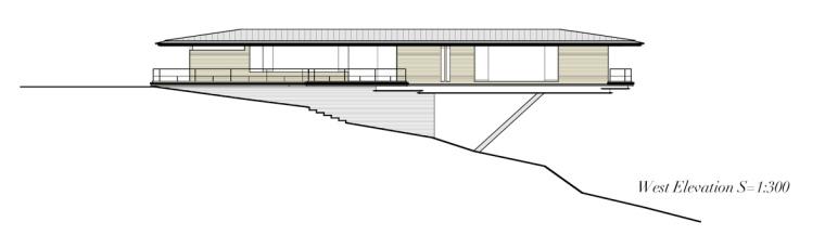 日本悬浮于空的住宅西立面图-日本悬浮于空的住宅第23张图片