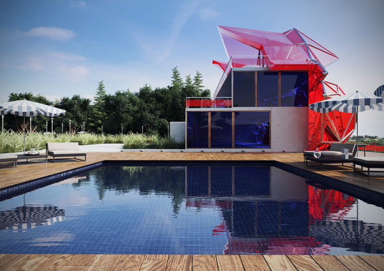 如此奢华的别墅外部背面实景图-如此奢华的别墅第4张图片