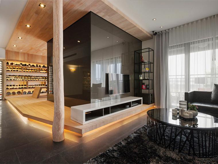 台湾台北时髦的开放式公寓
