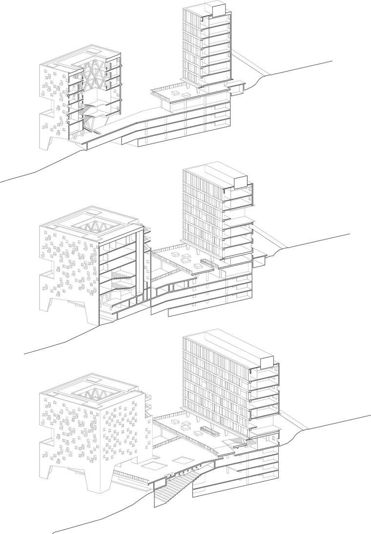 智利UDP经济学院校园总体规划剖面-智利UDP经济学院校园总体规划第22张图片