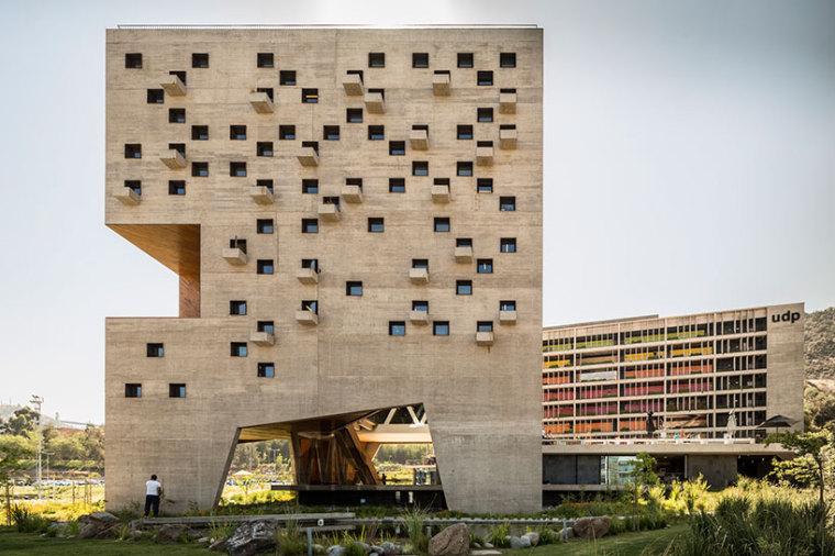 智利UDP经济学院校园总体规划外部-智利UDP经济学院校园总体规划第3张图片