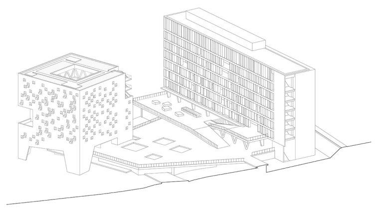 智利UDP经济学院校园总体规划轴测-智利UDP经济学院校园总体规划第23张图片
