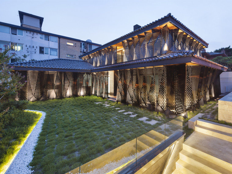 US现代别墅资料下载-韩国几何别墅