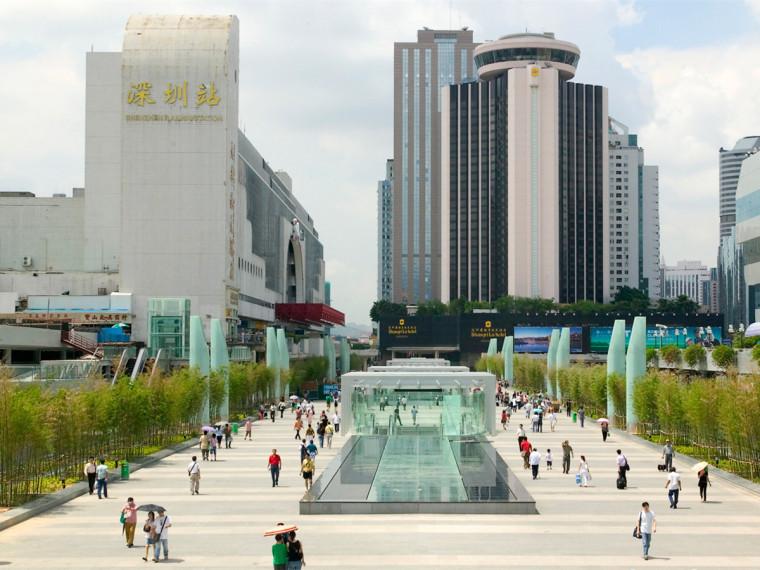 广东深圳深圳罗湖站景观