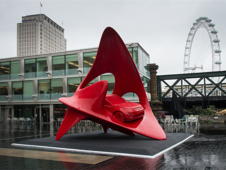英国雕塑与运动版融合景观