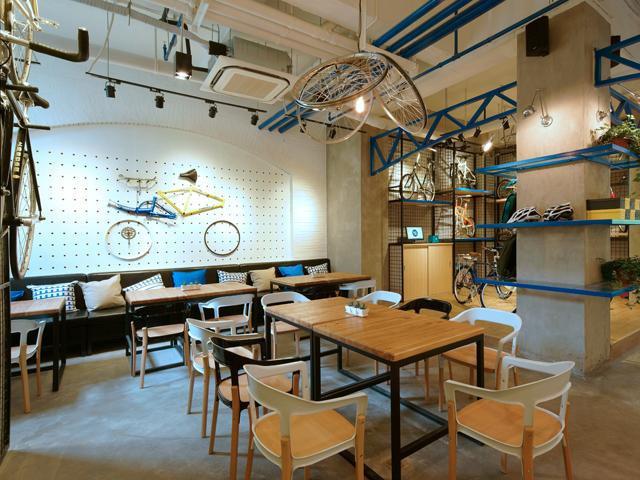 上海永久自行车主题咖啡馆