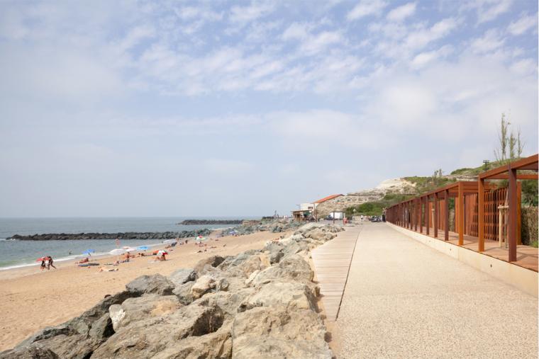 法国昂格莱南海岸外部海岸边实景-法国昂格莱南海岸第7张图片