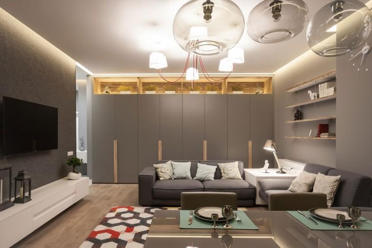 乌克兰公寓室内客厅实景图-乌克兰公寓第4张图片