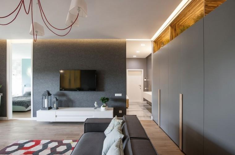 乌克兰公寓室内客厅局部实景图-乌克兰公寓第11张图片