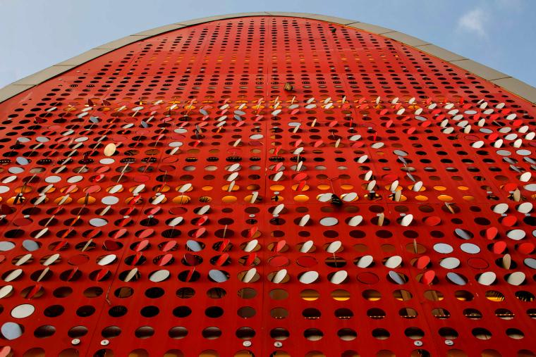 印度TheDigit办公楼-印度The Digit办公楼外部局部实景-印度The Digit办公楼第4张图片